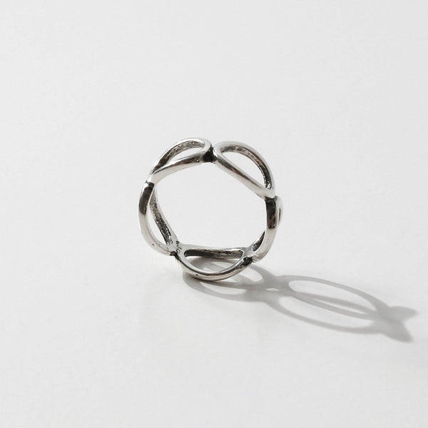 925 |Handcrafted| Personality Oval Ring <br><font>Size 16</font>