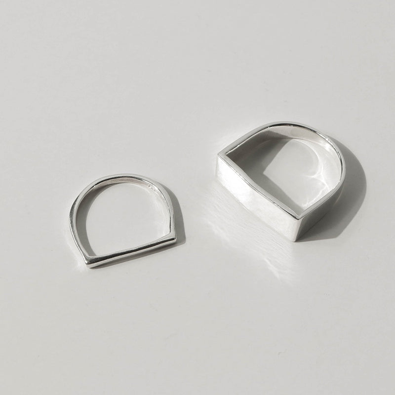 925 |Handcrafted| Flat Top Mens Ring <br><font>Size 16</font>