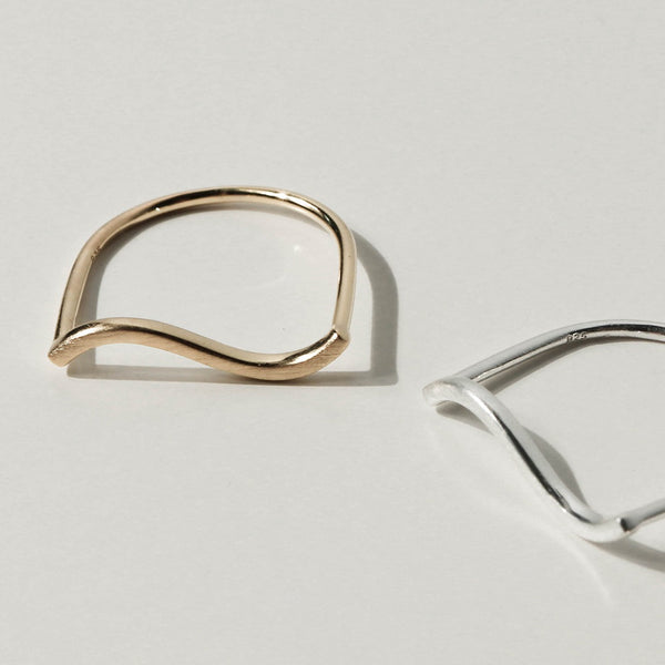 925 Handcrafted Brushed Wave Ring | A KIND OOOF