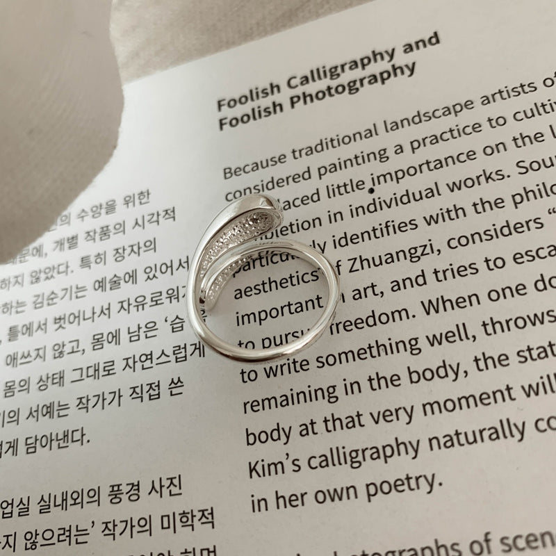 925 Water Droplet Hugging Ring <br><font>Size 12•14</font>