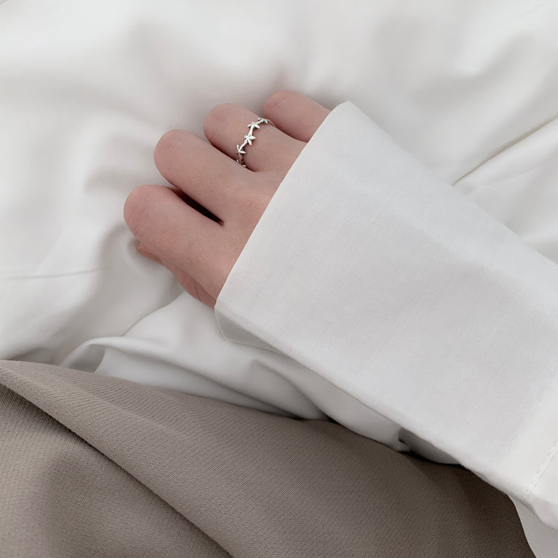 925 |Handcrafted| Shooting Star Ring <br><font>Size 14</font>