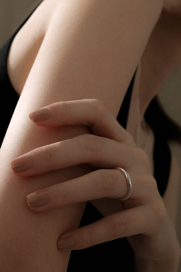 925 Handcrafted Silver Freeform Dainty Ring
