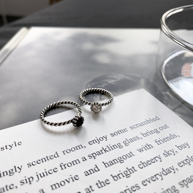 925 |Handcrafted| Spiral Rope Ring with Crown <br><font>Size 5•9•13</font>