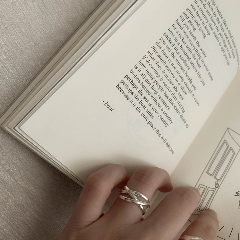 925 |Handcrafted| Crisscrossing Ring <br><font>Size 8•9•10•11•12•13•15</font>