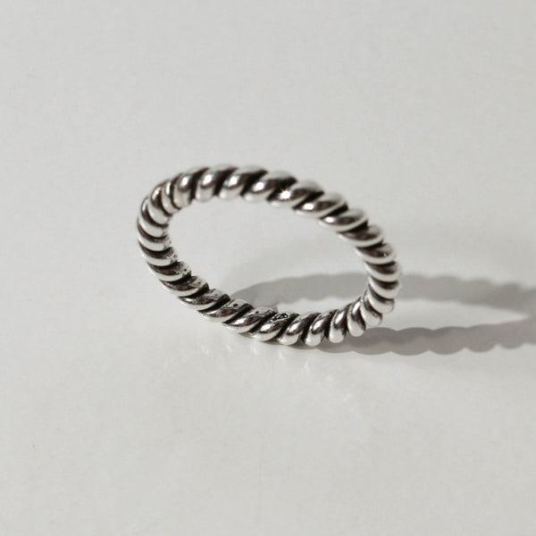 925 |Handcrafted| Wafer Roll Ring <br><font>Size 9•11•13•15</font>