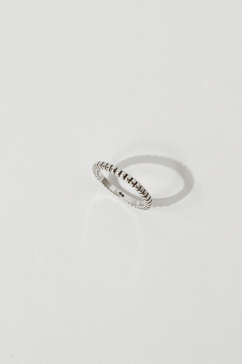 925 |Handcrafted| Square Beaded Ring <br><font>Size 9•11•13•15</font>