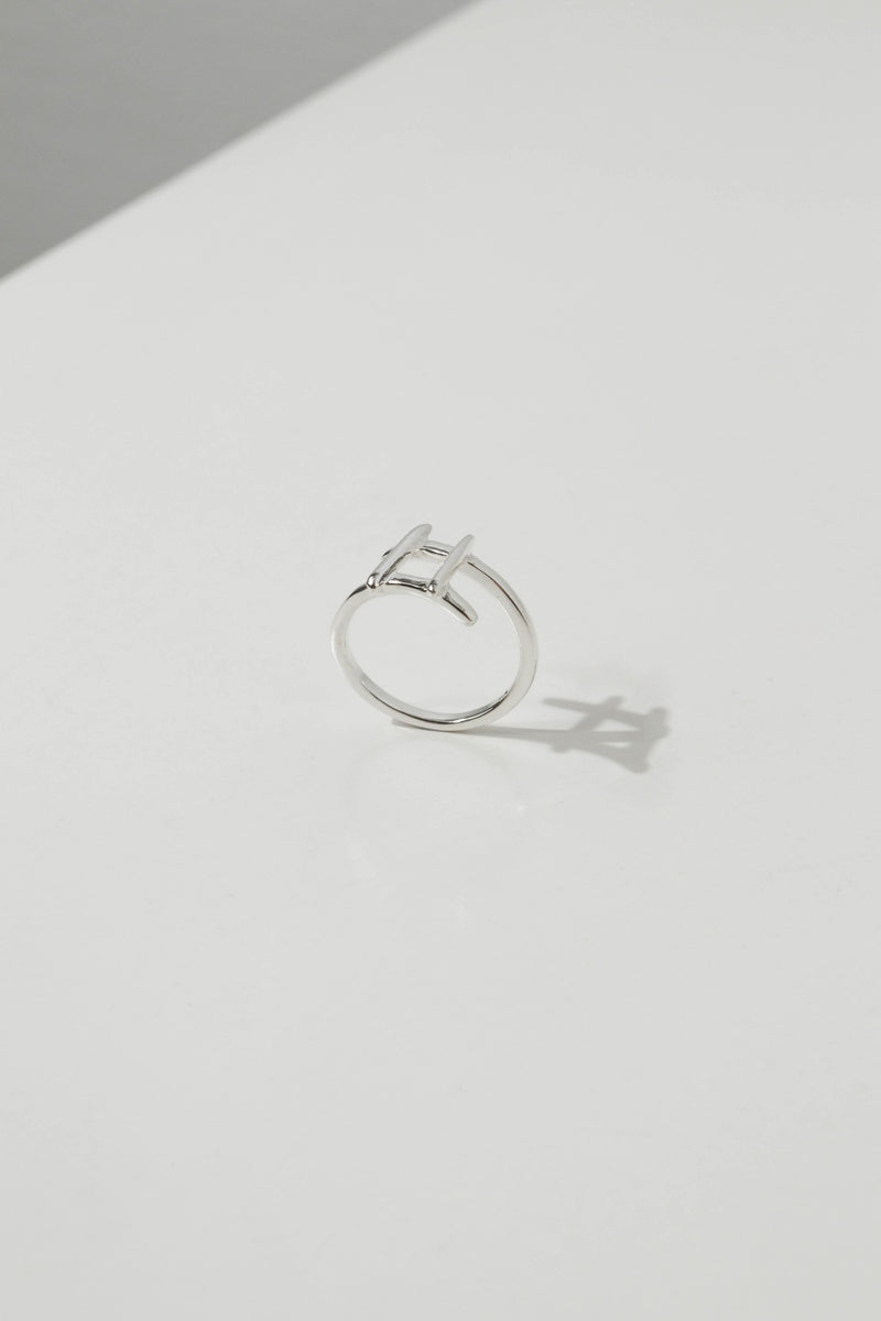 925 |Handcrafted| Hashtag Ring <br><font>Size 9•11•13•15</font>