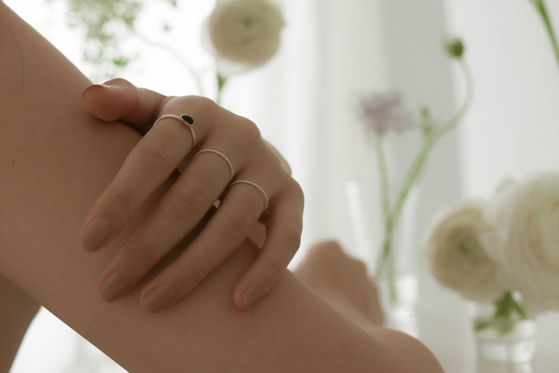 925 |Handcrafted| Onyx Love Ring <br><font>9•11•13•15</font>