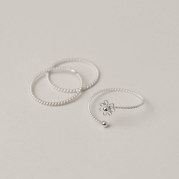 925 |Handcrafted| Trio Belle Garden Ring