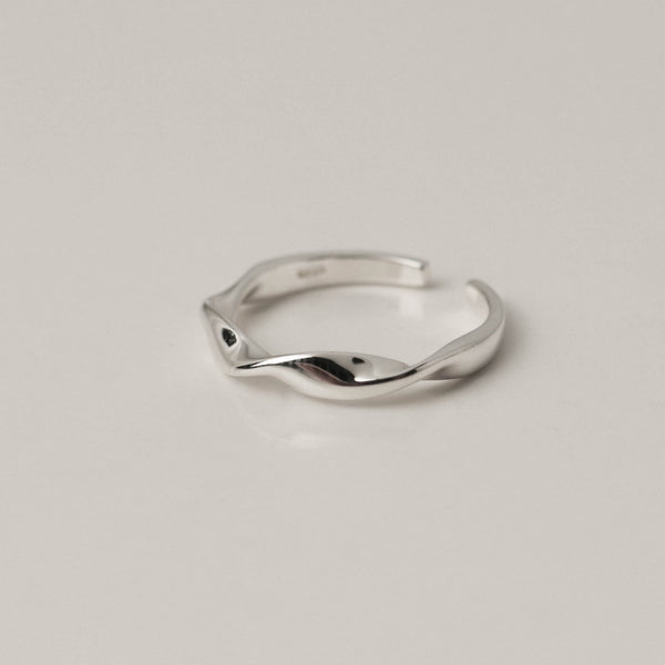 925 |Handcrafted| Ripples Refraction Open Ring <br><font>11•14</font>