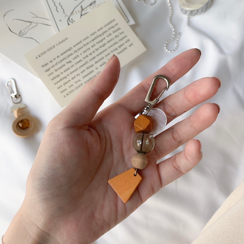 Wooden Beads Keychain by (un)necessary