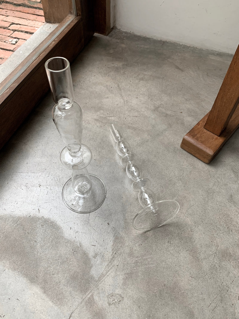 Avianna Clear Glass Candle Stand