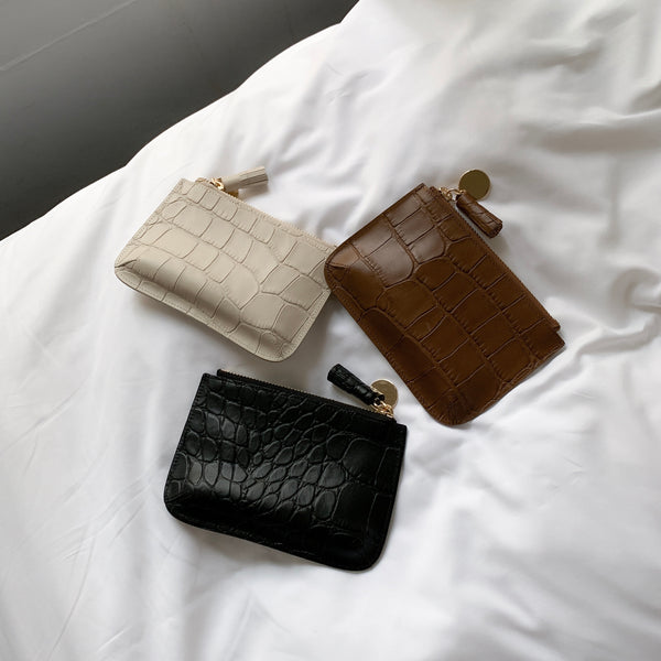 COMME TOP ZIP WALLET BY BUCKS & LEATHER (Seoul)