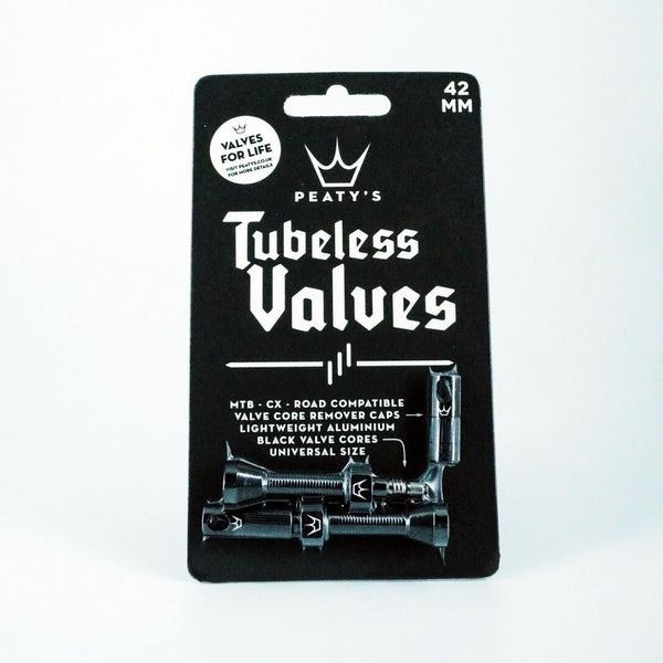 Peaty's Tubeless Valves (pair) - 42mm - Black - MD2 Distribution - Wholesale Distributors of Cycling Parts in the United States