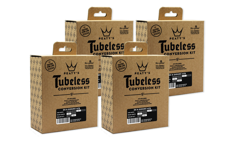 Peaty's Tubeless Conversion Kit - 25mm (MTB) - (4x Case)