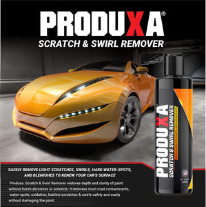 PRODUXA Scratch & Swirl Remover - Premium Car Polish, Automobile Repair for Oxidation, Paint Scratches, Swirl Marks and Water Spots, Restore Shine,