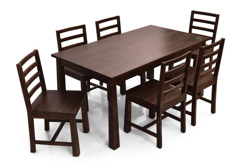 Charles - Charles 6 Seater Dining Set in American Walnut Finish