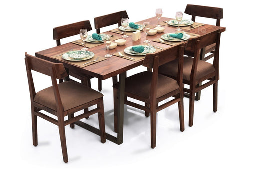 Chelsea - Robert 6 Seater Dining Set in Teak Finish
