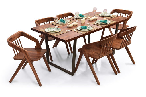 Chelsea - Skye 6 Seater Dining Set in Teak Finish