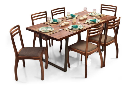 Chelsea - Aspen 6 Seater Dining Set in Teak Finish
