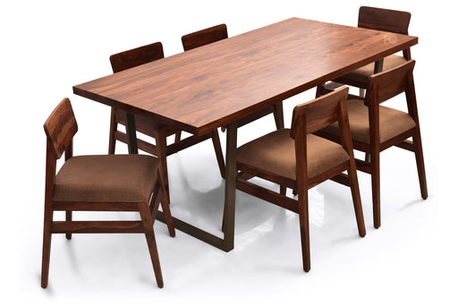Chelsea - Ryder 6 Seater Dining Set in Teak Finish