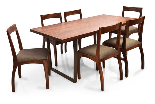 Chelsea - Brad 6 Seater Dining Set in Teak Finish