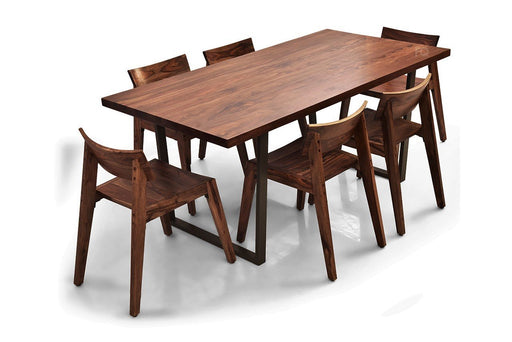 Chelsea - Joy 6 Seater Dining Set in Teak Finish