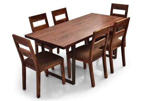 Chelsea - Bryan 6 Seater Dining Set in Teak Finish