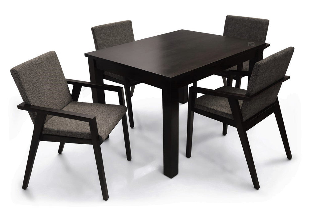 Leo - Max 4 Seater Dining Set in Mahogany Finish