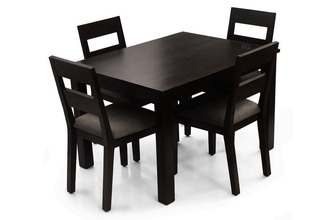 Leo - Bryan 4 Seater Dining Set in Mahogany Finish