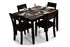 Zoe 4 Seater Dining Set in Mahogany Finish