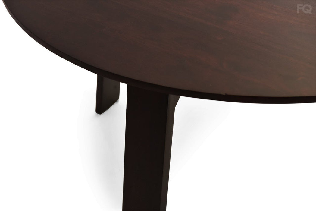 Ella Round 4  Seater Dining Table in Mahogany Finish