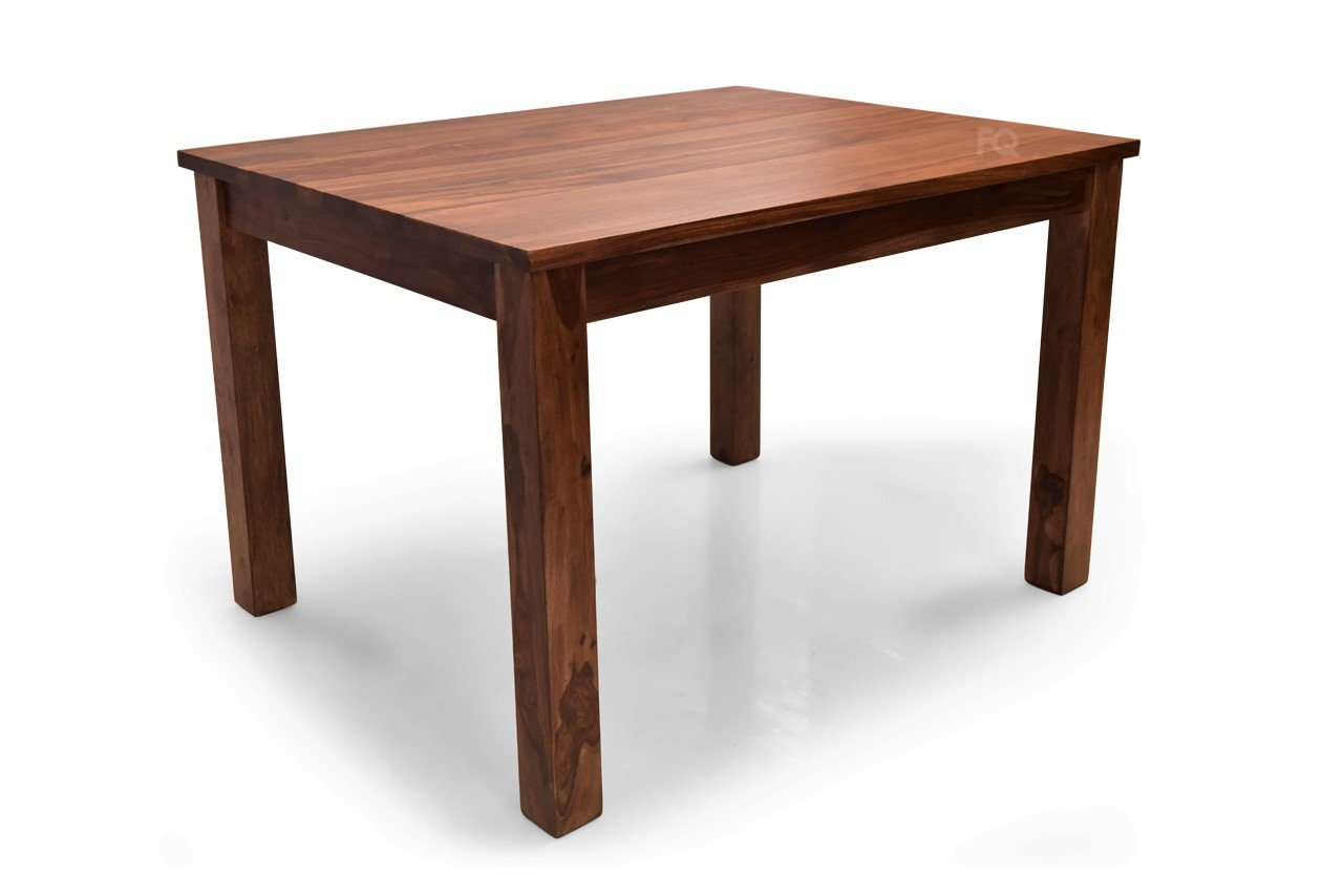 Leo 4 Seater Dining Table in Teak Finish