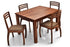 Leo - Aspen 4 Seater Dining  Set in Teak Finish