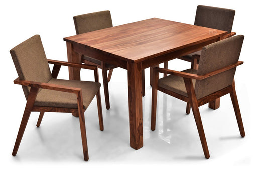 Leo - Max 4 Seater Dining Set in Teak Finish