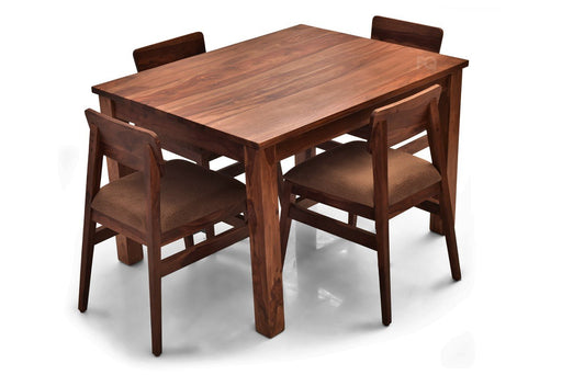 Leo - Ryder 4 Seater Dining Set in Teak Finish
