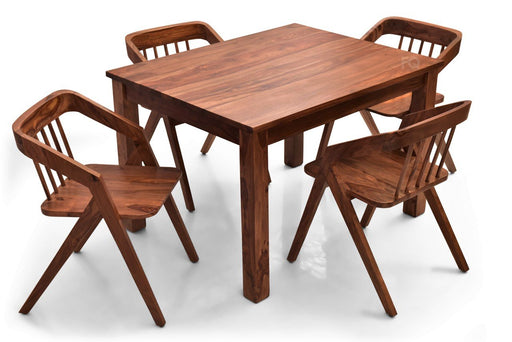 Leo - Skye 4 Seater Dining Set in Teak Finish