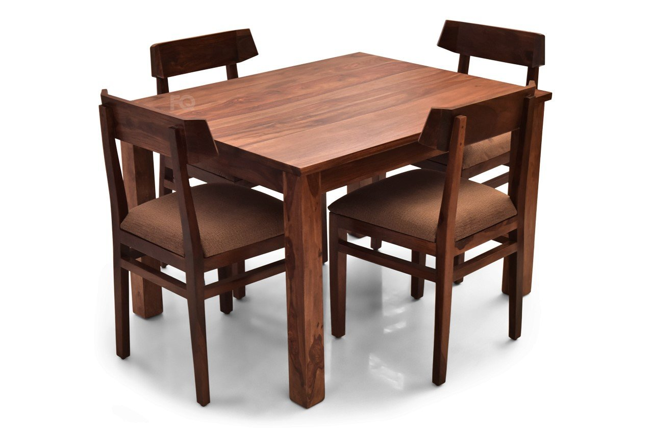 Leo - Robert 4 Seater Dining Set in Teak Finish