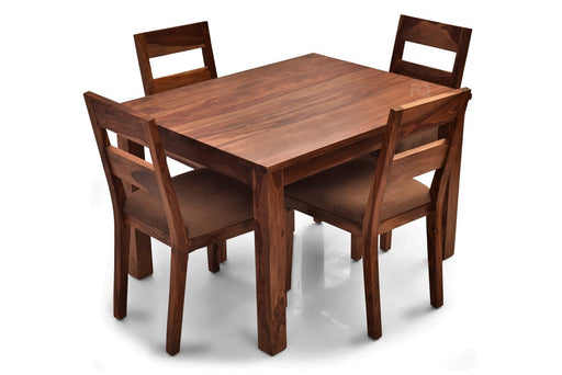 Leo - Bryan 4 Seater Dining Set in Teak Finish