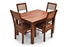 Leo - Viena 4 Seater Dining Set in Teak Finish