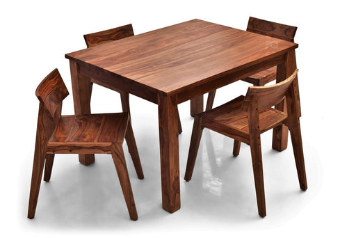 Leo - Joy 4 Seater Dining Set in Teak Finish