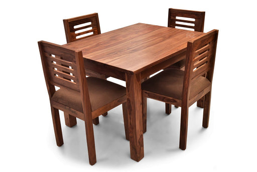 Leo - Richard 4 Seater Dining Set in Teak Finish