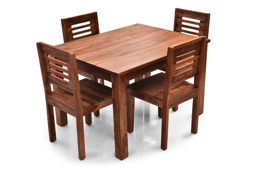 Leo - Ricky 4 Seater Dining Set in Teak Finish