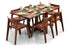 Macy - Joy Foldable 6 Seater Dining Set in Teak Finish