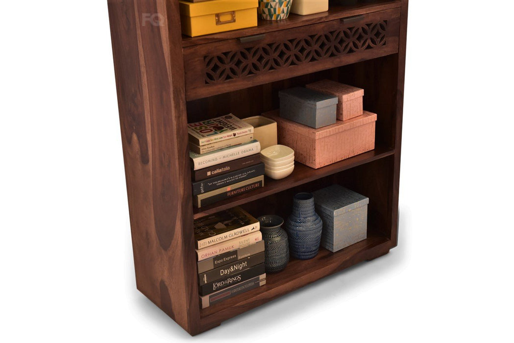 Zen Book Cabinet in Teak Finish