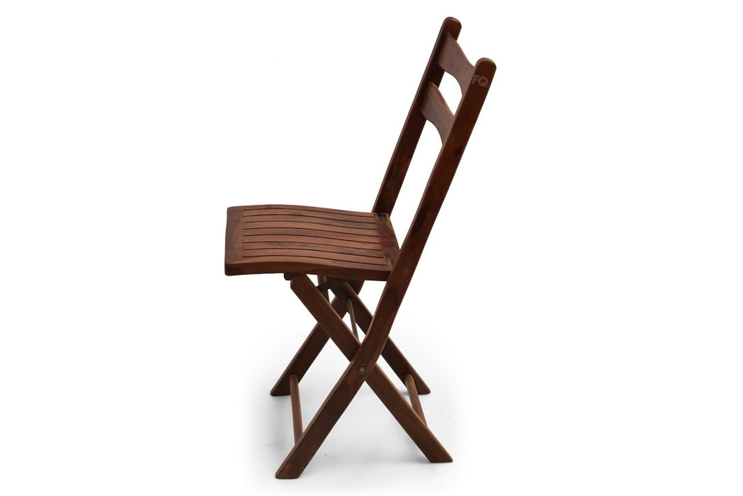 Ari Folding Chair in Teak Finish