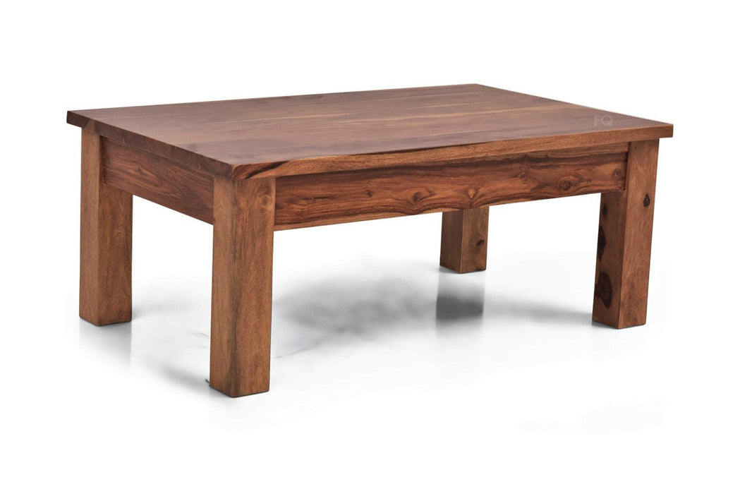 Leo Center Table in Teak Finish