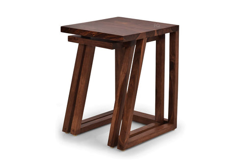 Zoey Nested Tables in Teak Finish