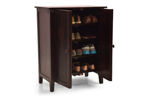 Zoey Shoe Cabinet in Mahogany Finish