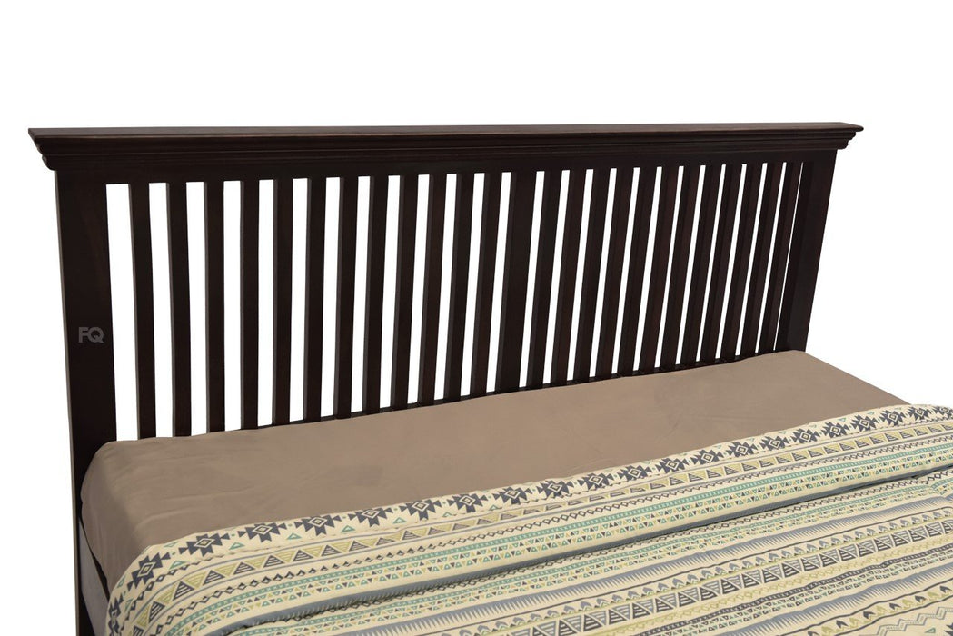 Mark Bed Without Storage in Mahogany Finish